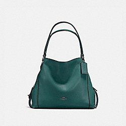 EDIE SHOULDER BAG 31 - DARK TURQUOISE/GUNMETAL - COACH 57125