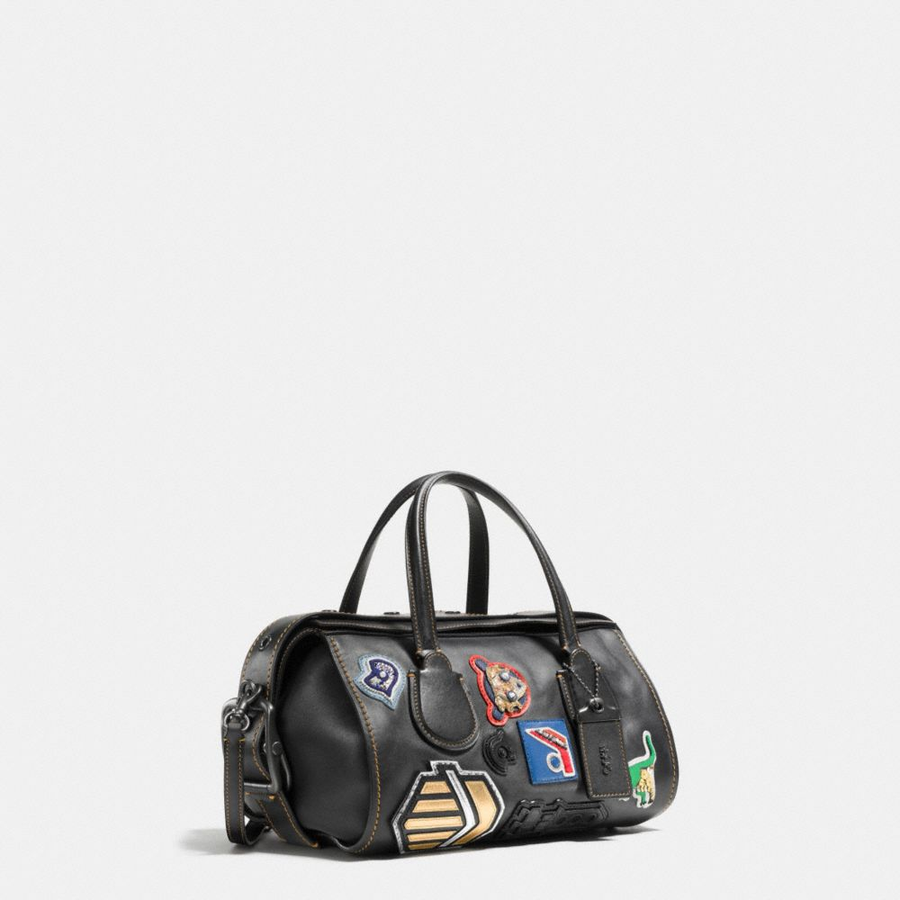 VARSITY PATCH BADLANDS SATCHEL IN GLOVETANNED LEATHER - Alternate View