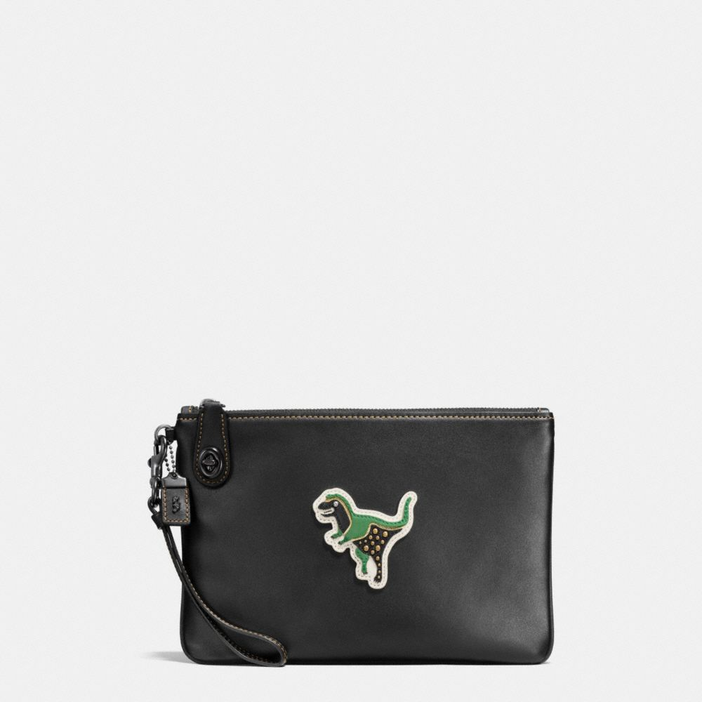 VARSITY PATCHES TURNLOCK WRISTLET 26 IN GLOVETANNED LEATHER - Alternate View