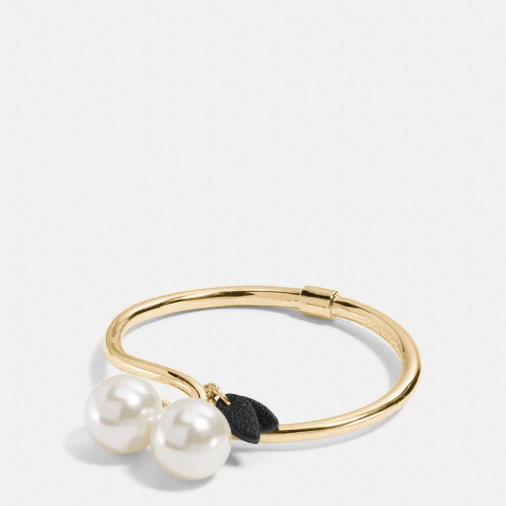 PEARL KISSLOCK CHERRY HINGED BANGLE - Alternate View