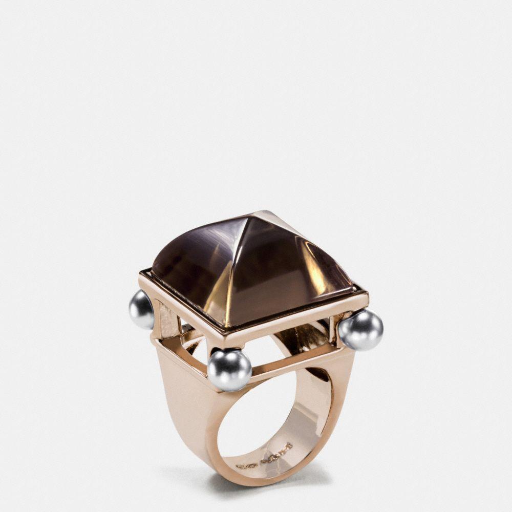 Pearl Pyramid Ring