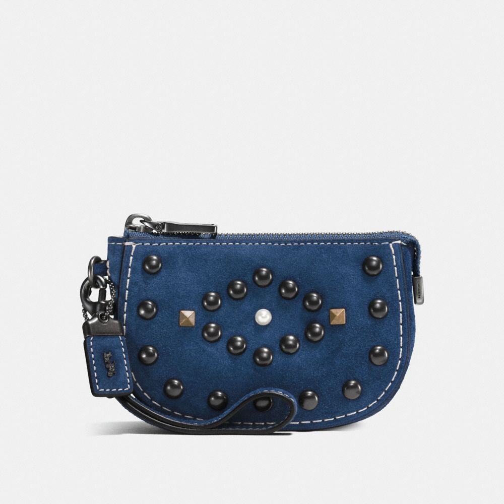 WESTERN RIVETS POUCH IN SUEDE - Alternate View