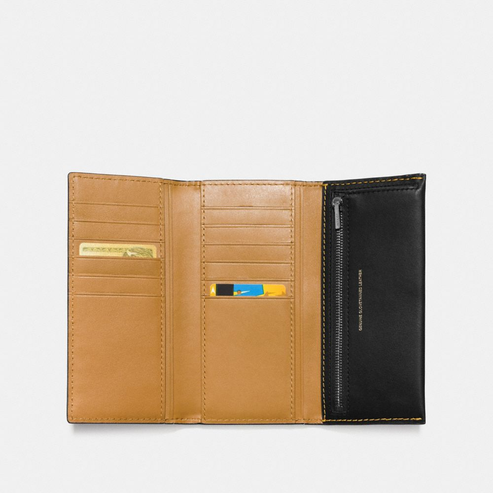 Slim Trifold Wallet in Glovetanned Leather - Alternate View A1