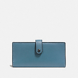 SLIM TRIFOLD WALLET - CHAMBRAY/BLACK COPPER - COACH 57197