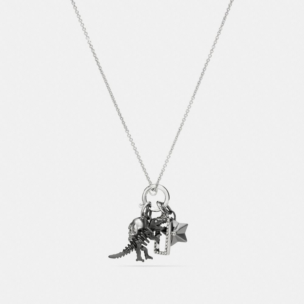 COACH REXY SKULL CHARM SET NECKLACE - WOMEN'S
