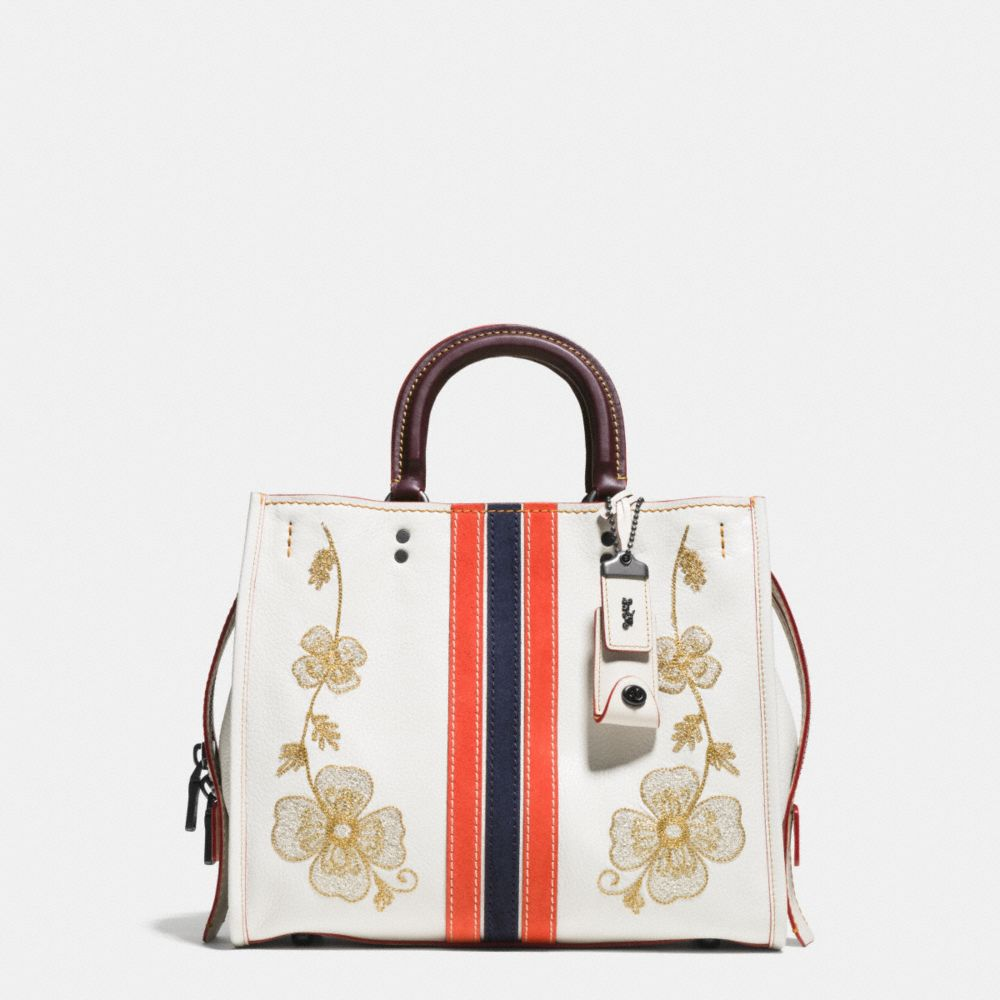 Coach Western Embroidery Rogue Bag in Pebble Leather