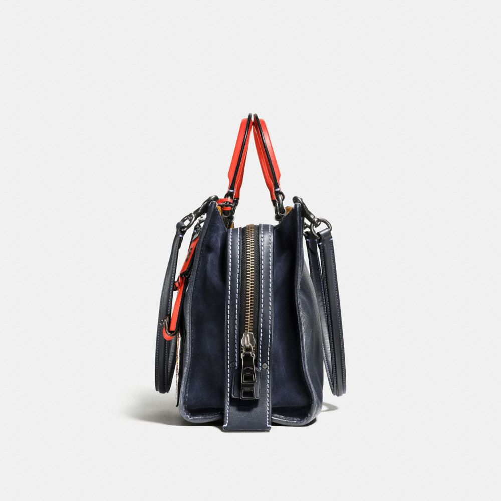 Varsity Patch Rogue Bag in Pebble Leather - Alternate View A1