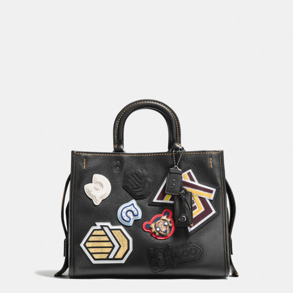 Coach Varsity Patch Rogue Bag in Pebble Leather