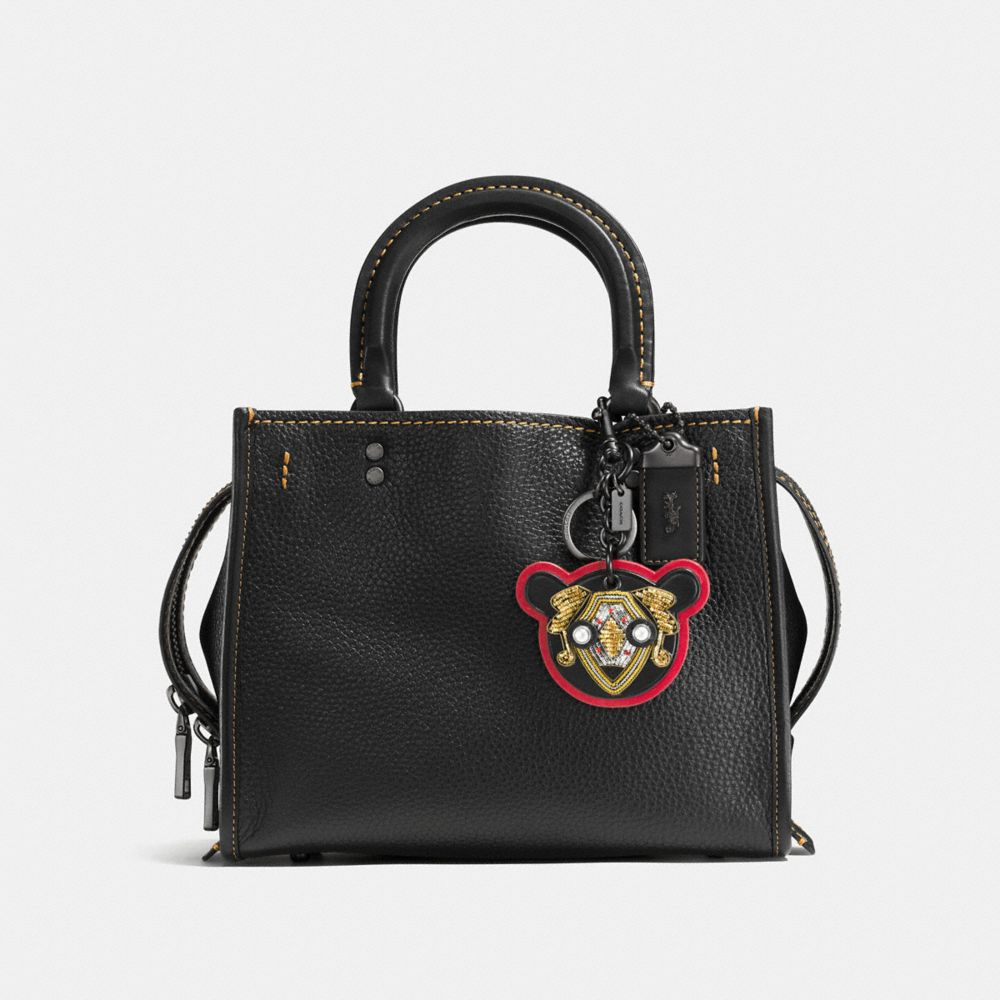 BULLION BEAR PATCH BAG CHARM - Alternate View