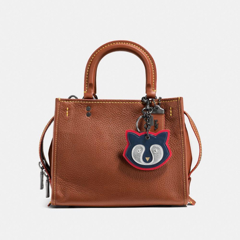 Coach Raccoon Patch Bag Charm Alternate View 2