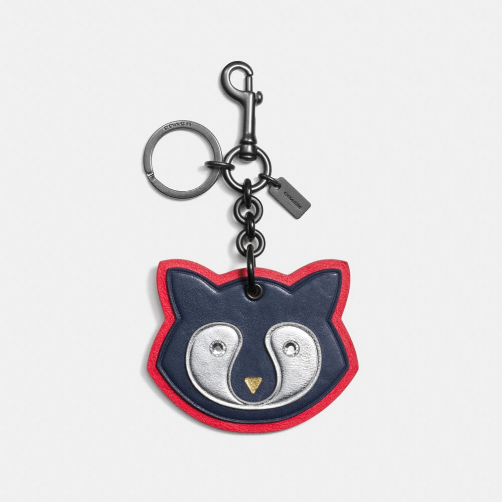 Coach Raccoon Patch Bag Charm