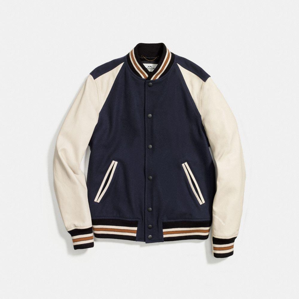 Coach Wool Leather Varsity Jacket Alternate View 1