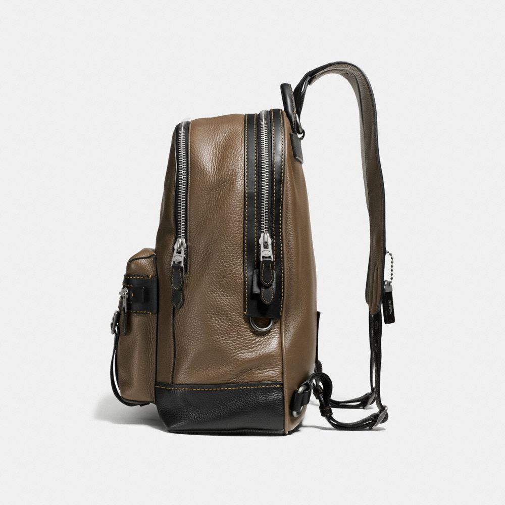 Coach Flag Backpack in Pebble Leather Alternate View 1