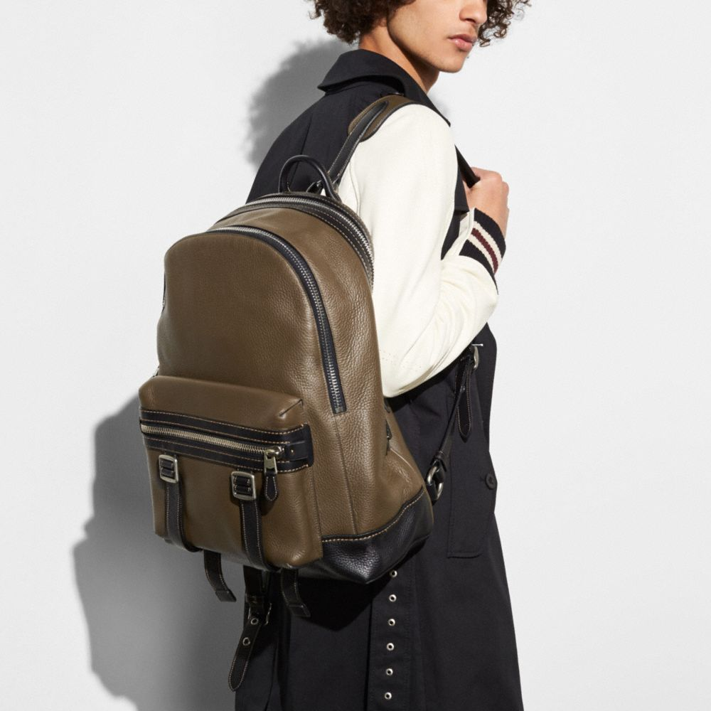 Coach Flag Backpack in Pebble Leather Alternate View 3