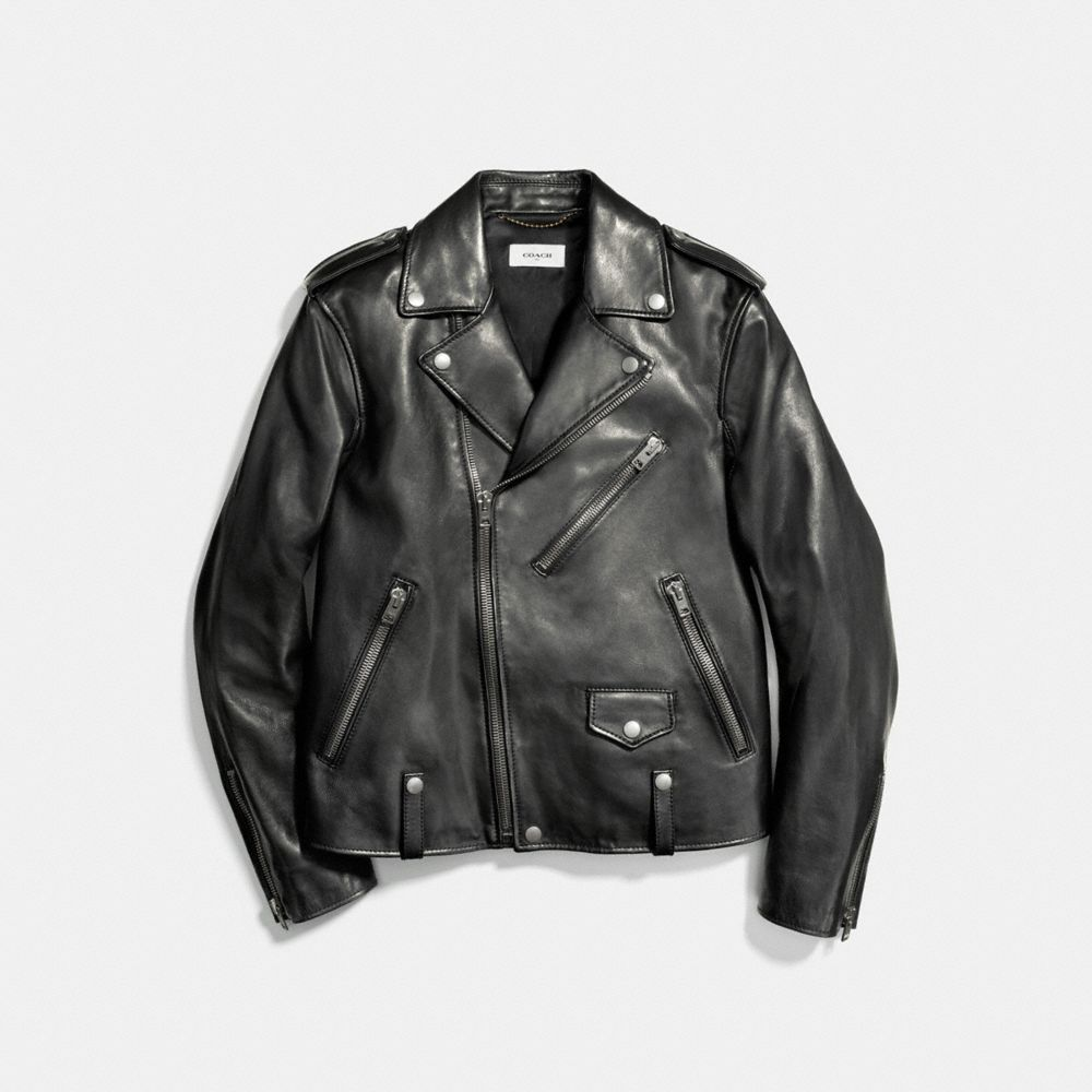 LEATHER MOTO JACKET - Alternate View