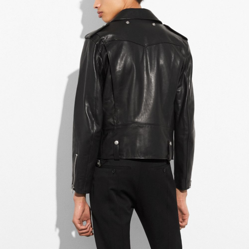 Leather Moto Jacket - Alternate View M1