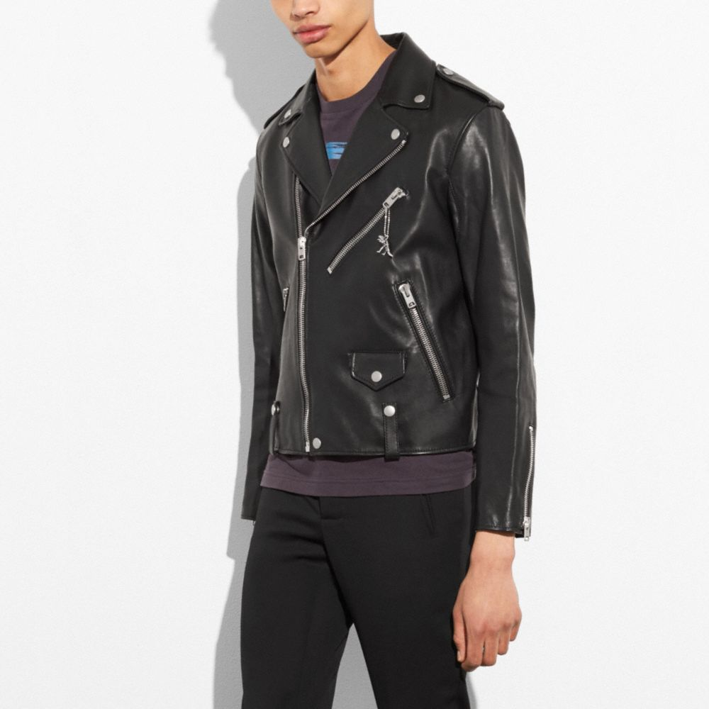 Leather Moto Jacket - Alternate View M2