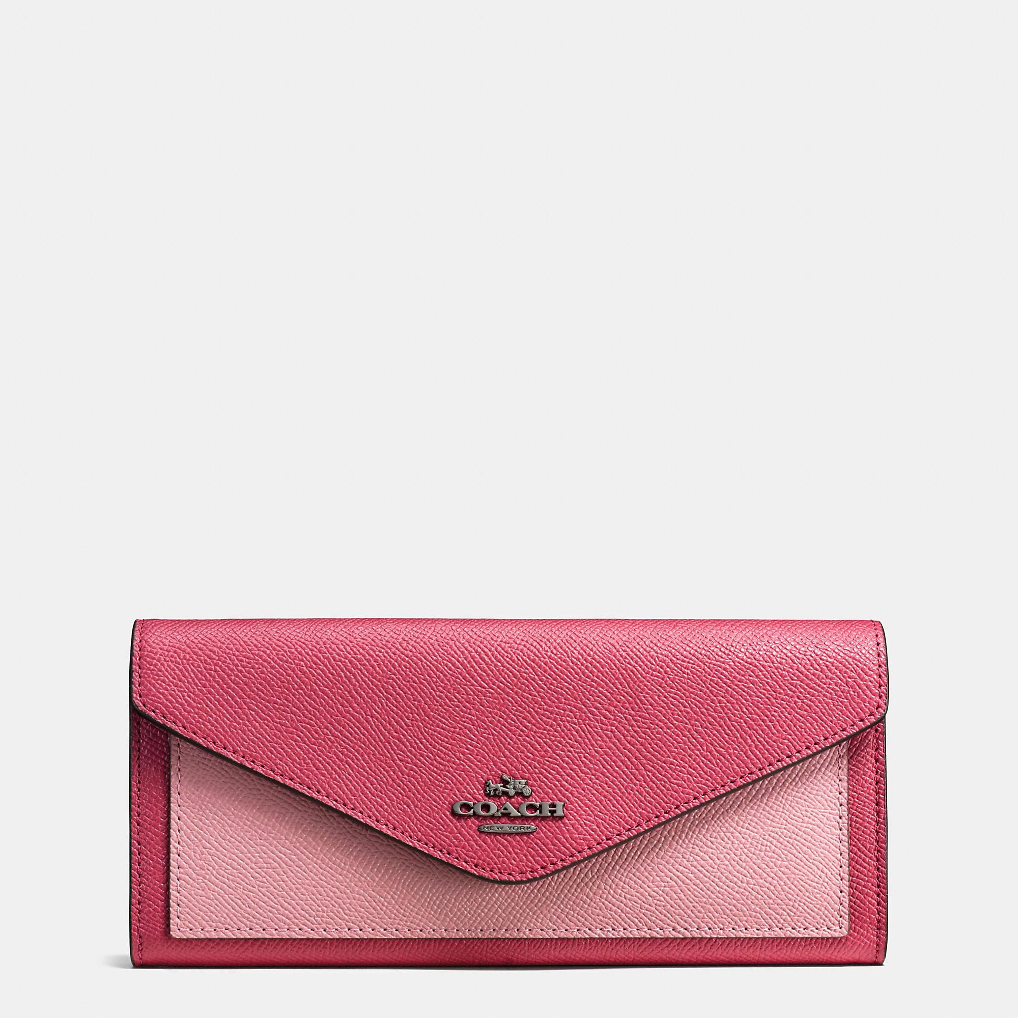 Coach Colorblock Soft Wallet