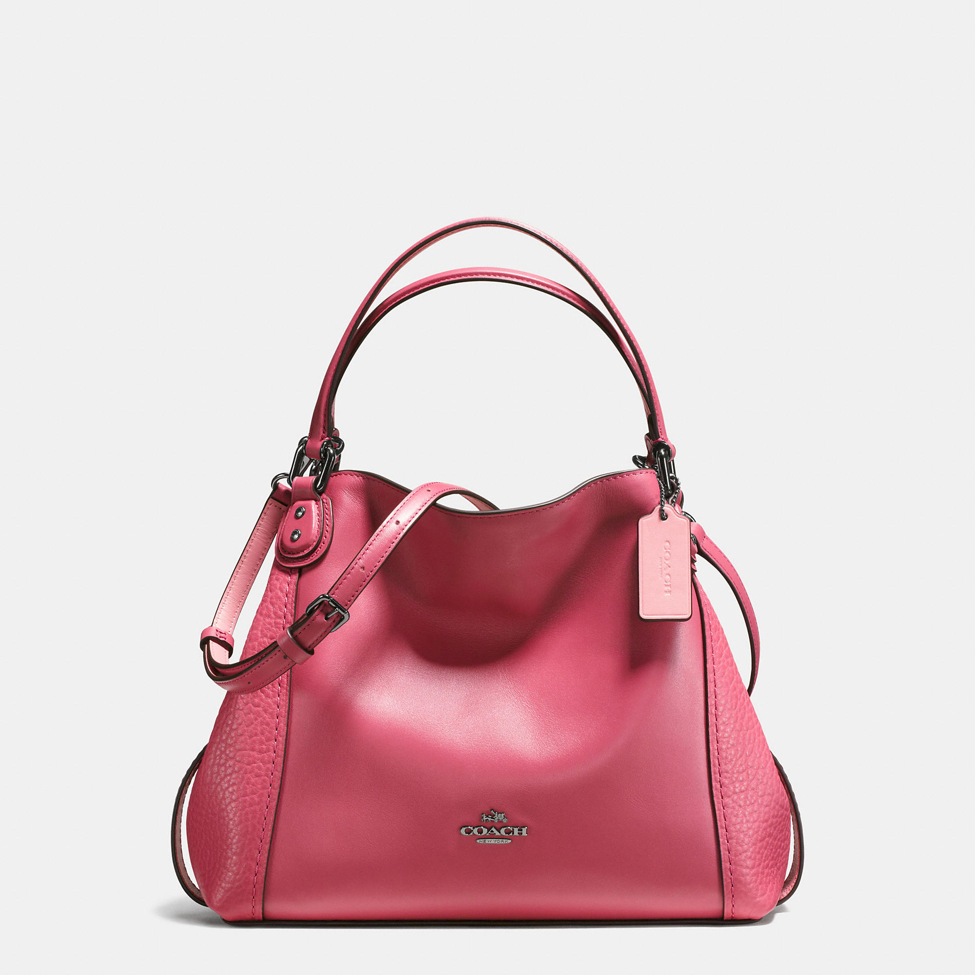 Coach Edie Shoulder Bag 28 In Mixed Leathers