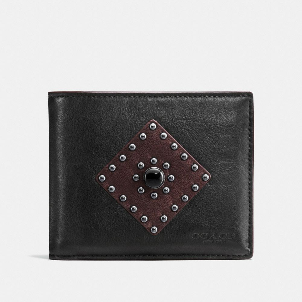 3-IN-1 WALLET IN SPORT CALF LEATHER WITH WESTERN RIVETS - Alternate View