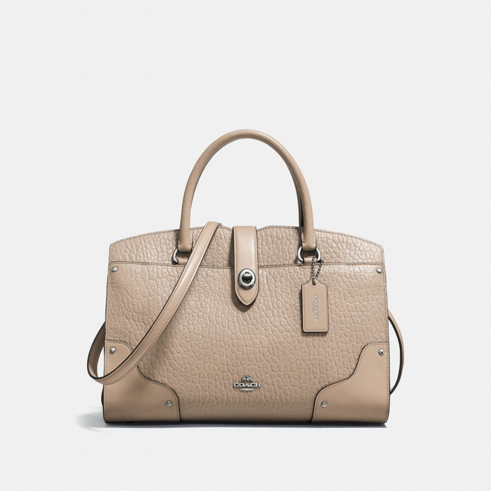 classic coach bags outlet q5ao  MERCER SATCHEL 30 IN MIXED LEATHERS
