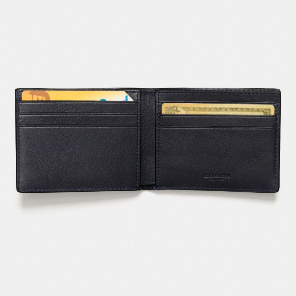 Slim Billfold Wallet in Canyon Quilt Leather - Alternate View L1