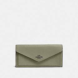 SOFT WALLET - V5/LIGHT FERN - COACH 57715