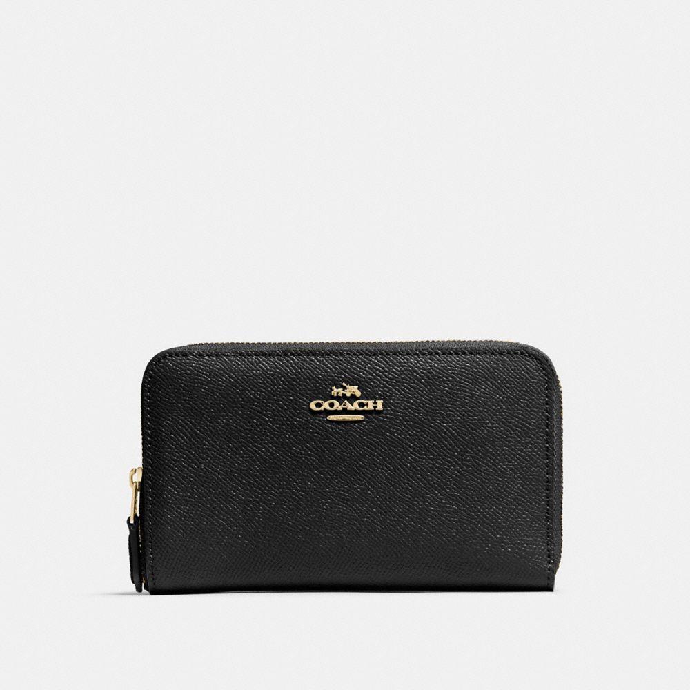 Medium Zip Around Wallet in Crossgrain Leather