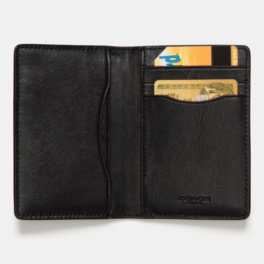 WESTERN RIVETS CARD WALLET IN SPORT CALF LEATHER - Alternate View