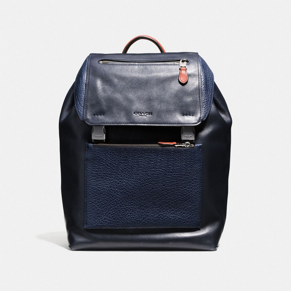 coach official outlet online 7h1v  MANHATTAN BACKPACK IN MIXED LEATHERS