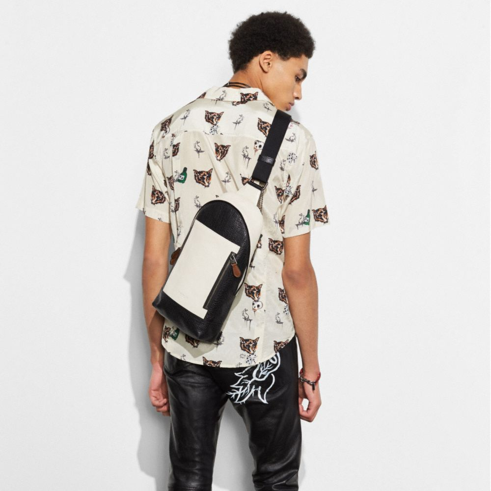 Manhattan Sling Pack in Mixed Leathers - Alternate View A2