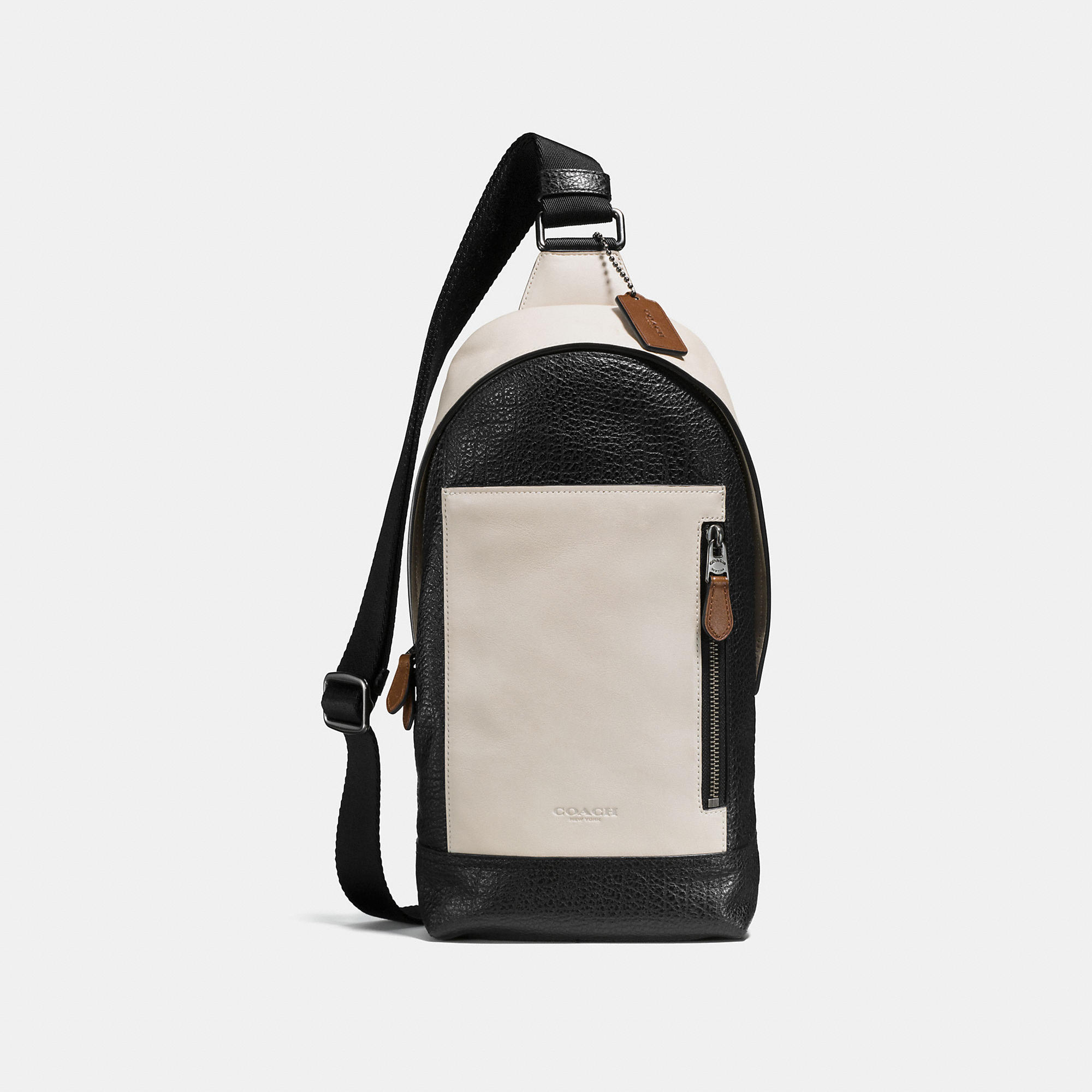 Coach Manhattan Sling Pack In Mixed Leather