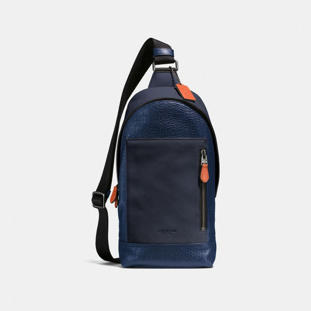 Coach Manhattan Sling Pack in Mixed Leathers