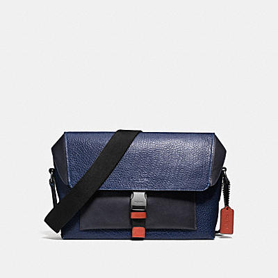MANHATTAN BIKE BAG IN MIXED LEATHERS