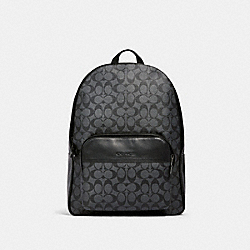 HOUSTON BACKPACK IN SIGNATURE CANVAS - QB/CHARCOAL/BLACK - COACH 577
