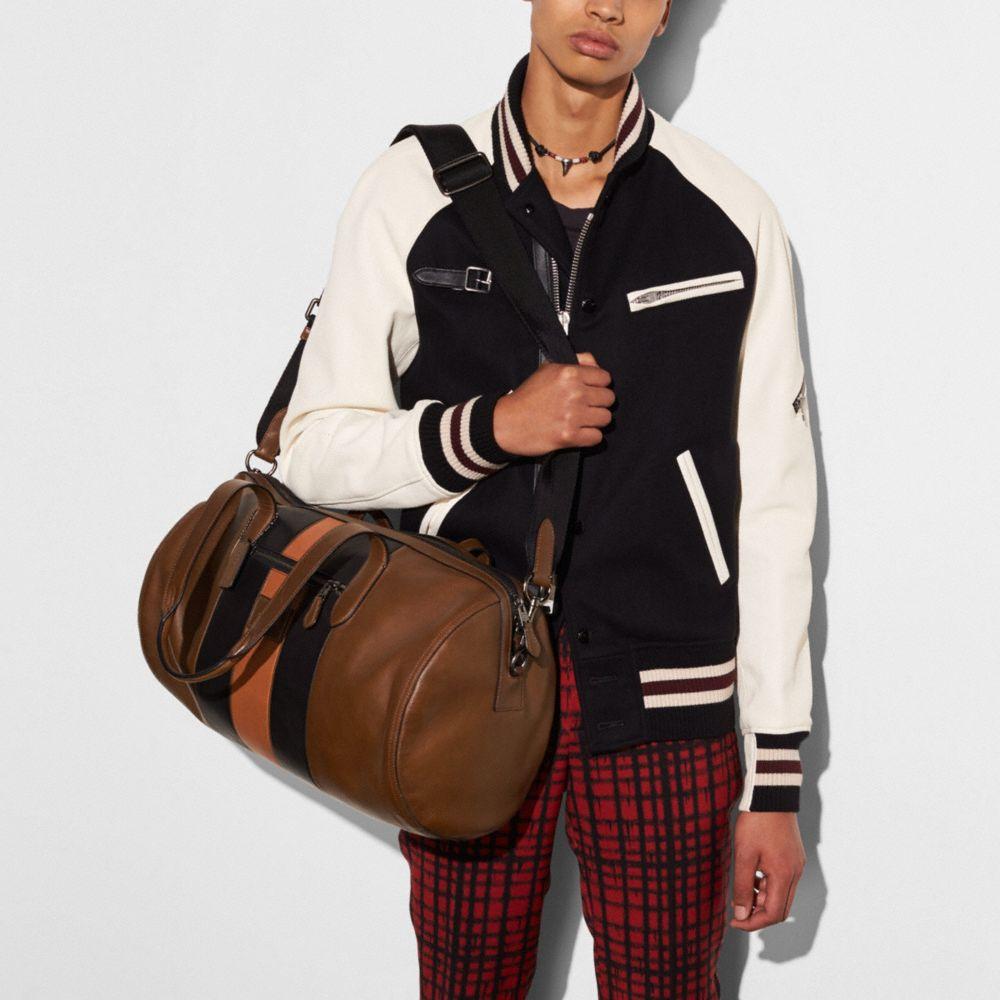 Coach Metropolitan Soft Gym Bag With Varsity Stripe Alternate View 3