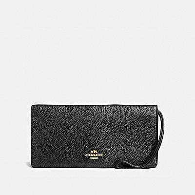 SLIM WALLET IN POLISHED PEBBLE LEATHER