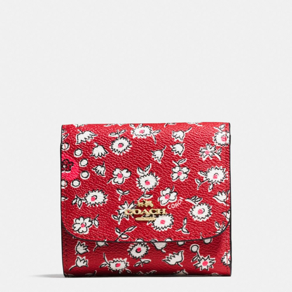 Small Wallet in Wild Hearts Print Canvas
