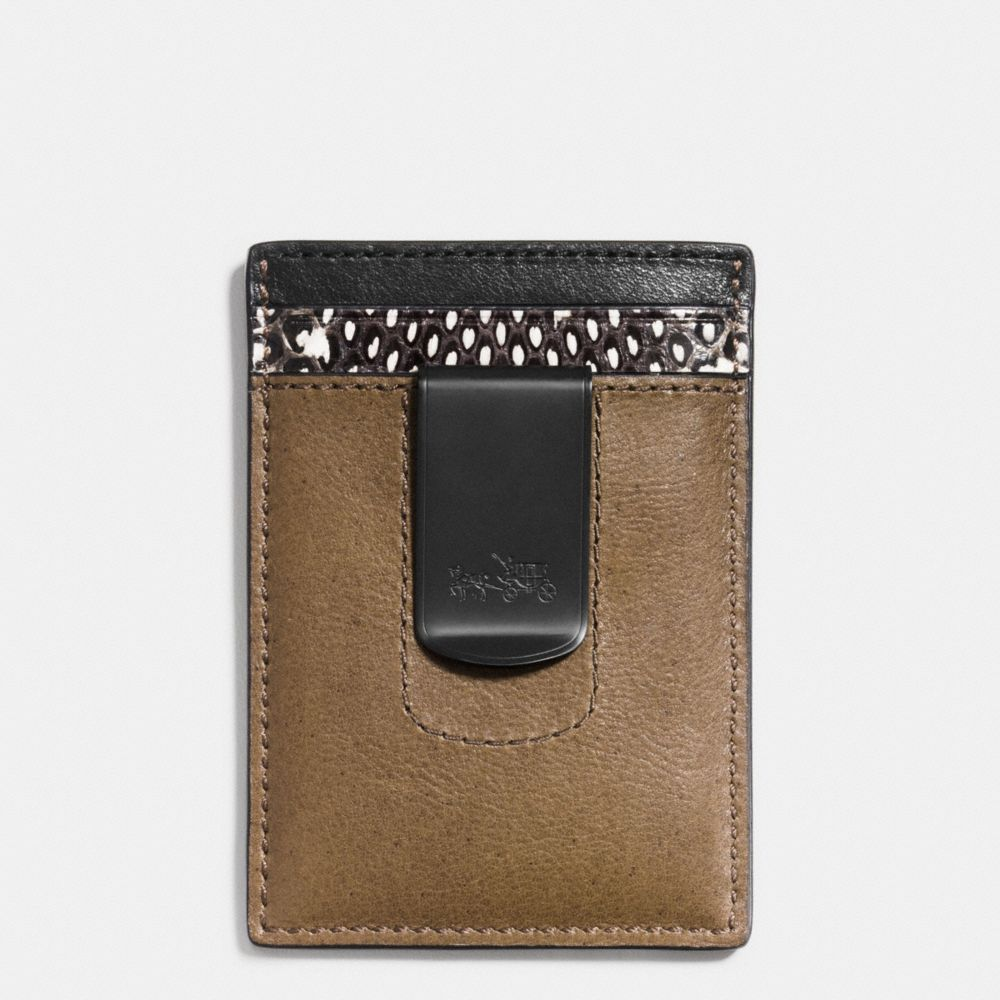 3-IN-1 WALLET IN COLORBLOCK MIXED LEATHERS - Alternate View
