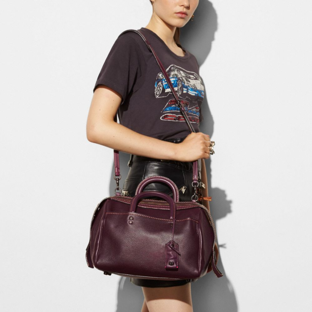 Coach Rogue Satchel in Glovetanned Pebble Leather Alternate View 3