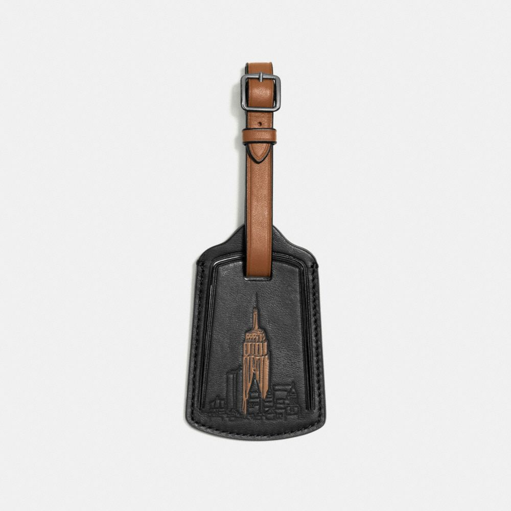 LUGGAGE TAG IN GLOVETANNED LEATHER
