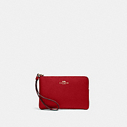 CORNER ZIP WRISTLET - IM/1941 RED - COACH 58032