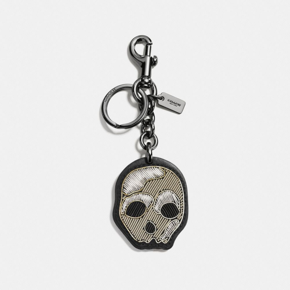 Coach Embroidered Skull Bag Charm