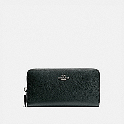 ACCORDION ZIP WALLET - PEWTER/PINE GREEN - COACH 58059