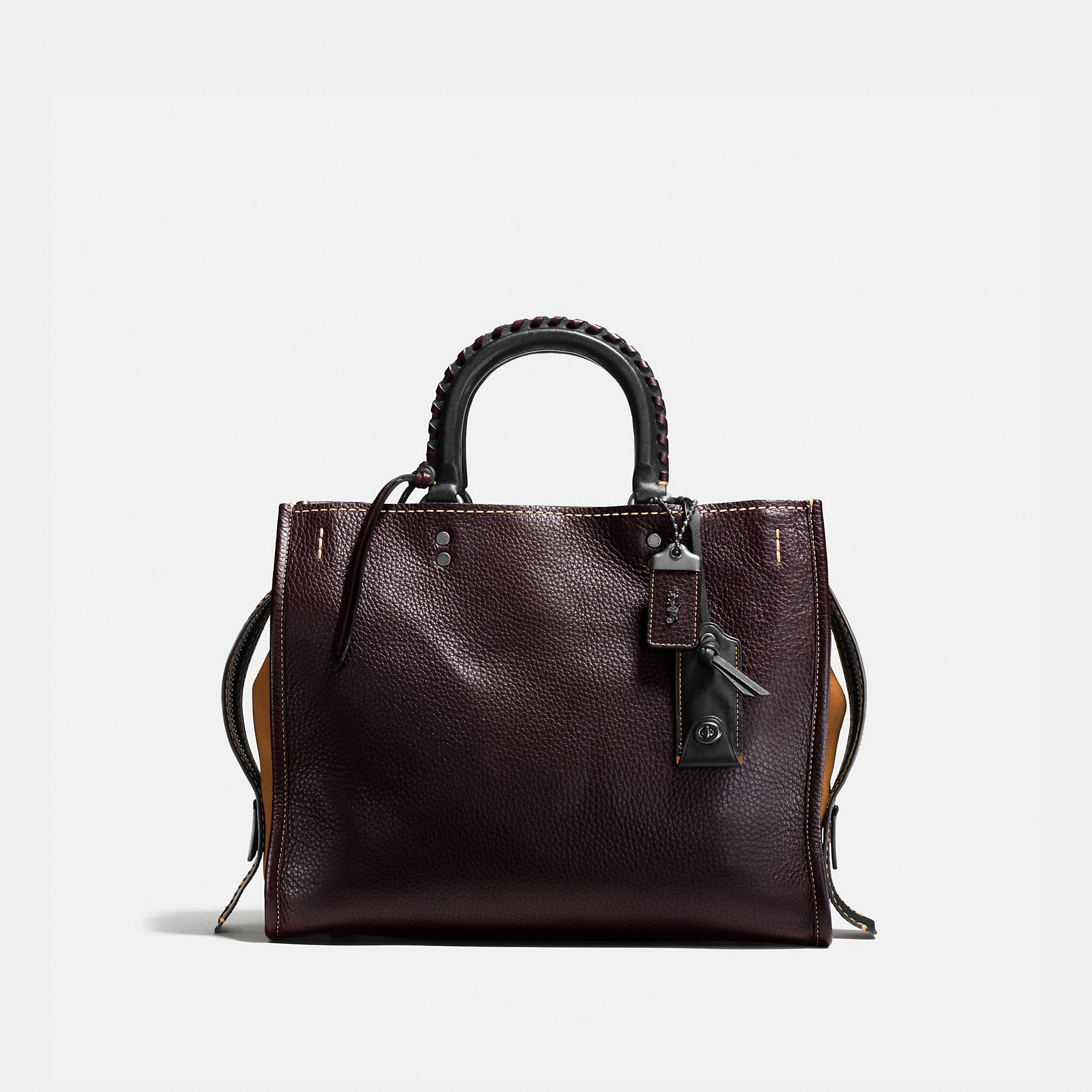Coach Rogue In Glovetanned Pebble Leather With Embellished Handle