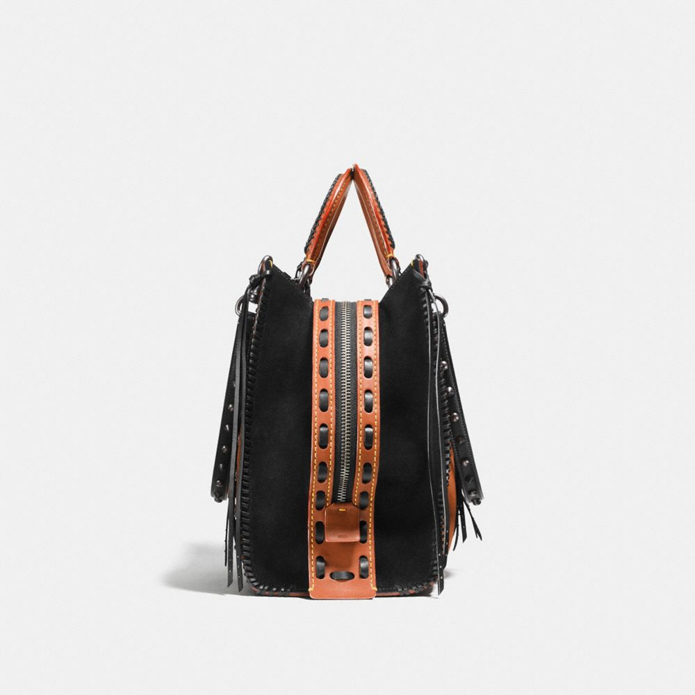 Coach Rogue 36 in Suede With Western Whiplash Detail Alternate View 1