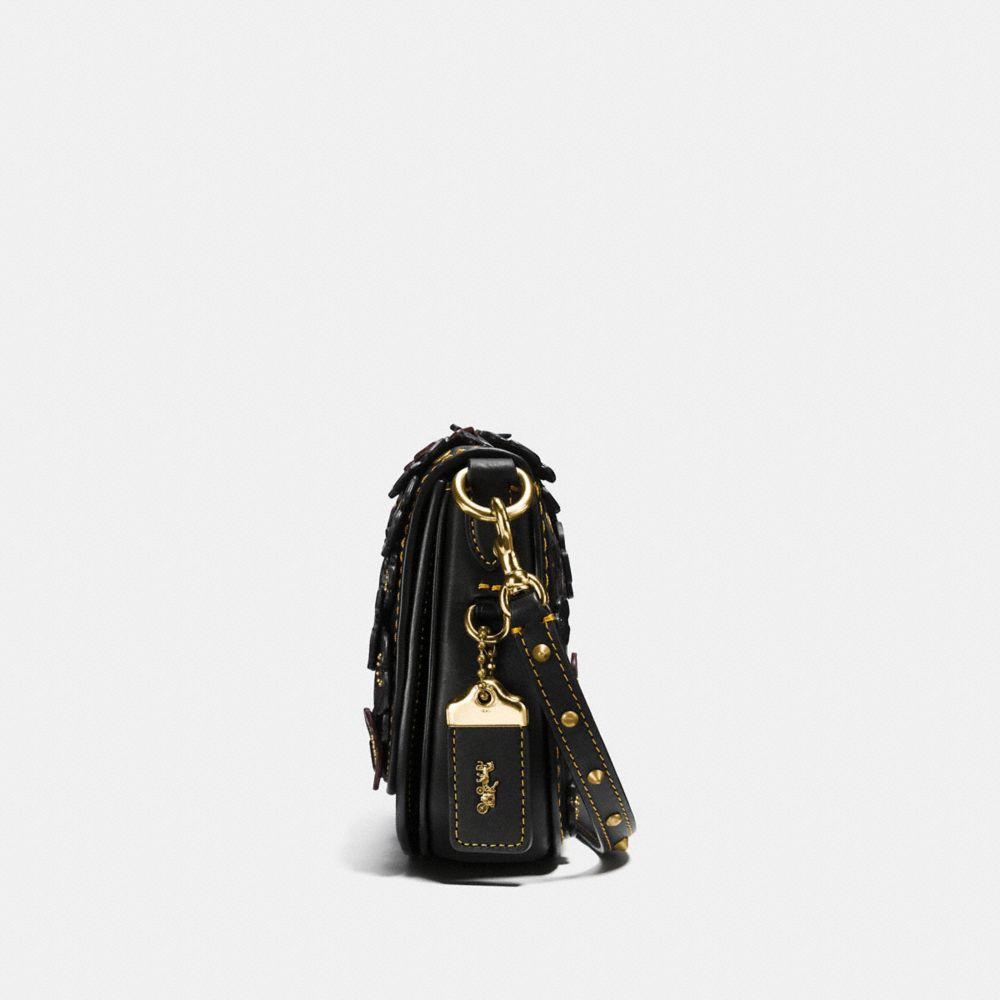 Saddle Bag 17 With Tea Rose Applique - Alternate View A1
