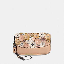 CLUTCH WITH TEA ROSE - BEECHWOOD/BLACK COPPER - COACH 58181