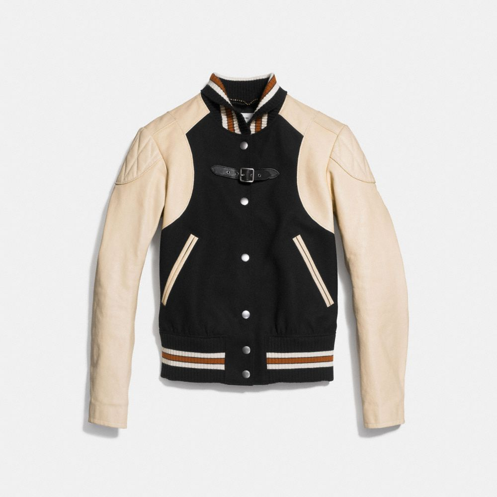 Moto Varsity Jacket - Alternate View A1