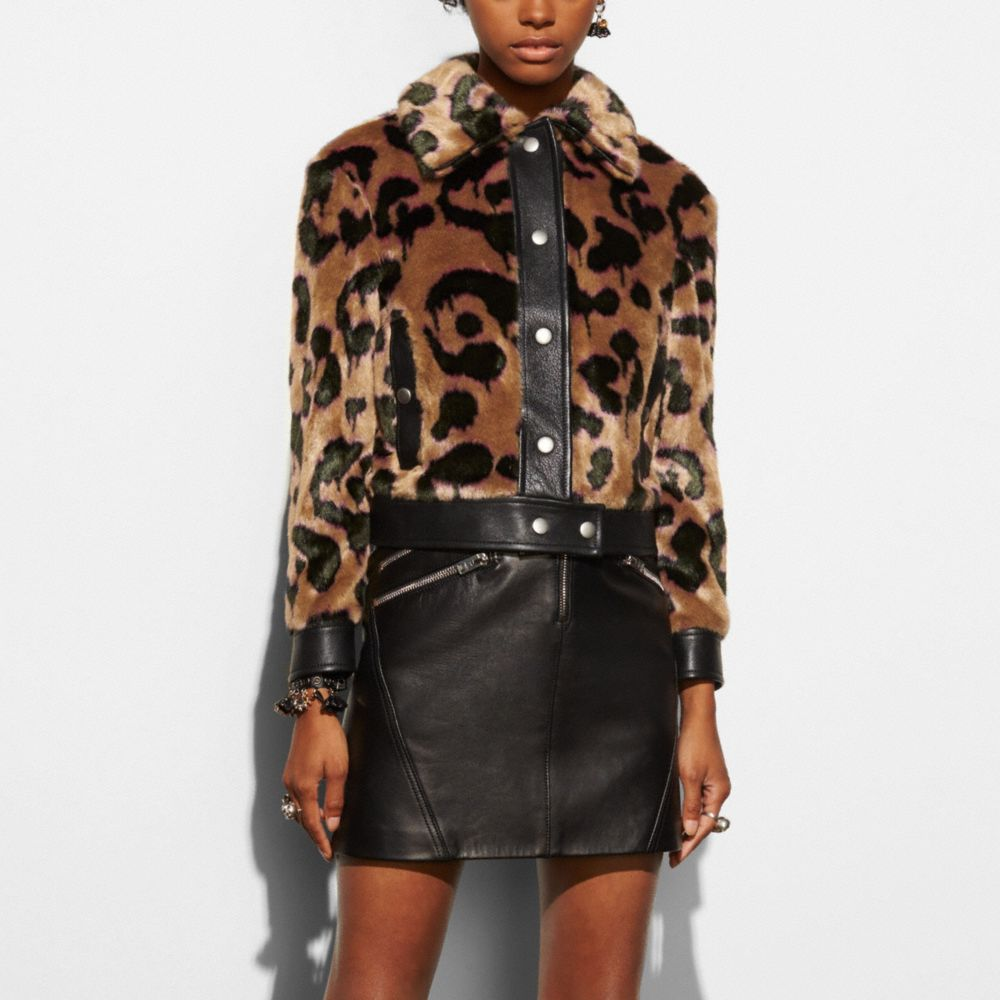 Coach Wild Beast Faux Fur Jacket